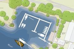 Segelhafen-Entwurfsplan